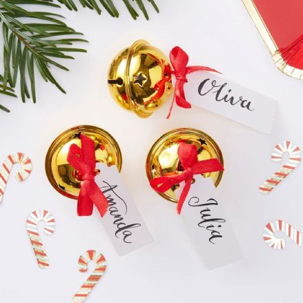 Christmas Bell Place Card Holder x6